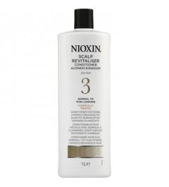 Conditionneur pour cheveux fins. Normaux à clairsemés. Nioxin 3 1000ml