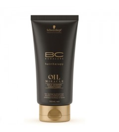Baume scintillant Gold Shimmer conditionner Schwarzkopf BC oil miracle 150 ml
