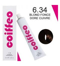 COIFFEO 6.34 BLOND FONCE DORE CUIVRE 100 ML