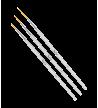 Set 3 pinceaux nail art