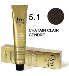 OROTHERAPY COLORATION N°5.10 CHÂTAIN CLAIR CENDRÉ 100 ml