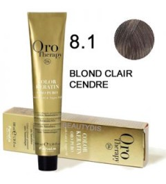 OROTHERAPY COLORATION N°8.1 BLOND CLAIR CENDRÉ 100