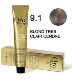 OROTHERAPY COLORATION N°9.1 BLOND TRÈS CLAIR CENDRÉ 100 ml
